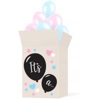 Коробка с шариками на Baby Shower