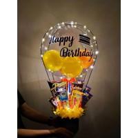 Светящийся шар - подарок со сладостями