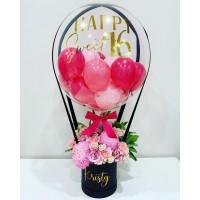 Подарок для девушки шар с цветами