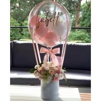 Шар подарок в розовых оттенках