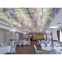 Оформление розовые+сиреневые+белые шары на свадьбу