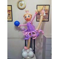 Балерина из воздушных шаров