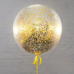 Большой шар с мелким золотым конфетти