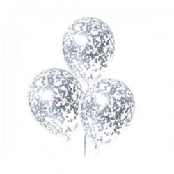 Стандартный шар с мелким серебряным конфетти
