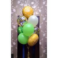 Фонтан с фольгированными киви и апельсинами