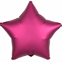 Розовая звезда сатин