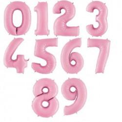 Нежно-розовые цифры