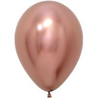 Гелиевый шар цвета розовый хром
