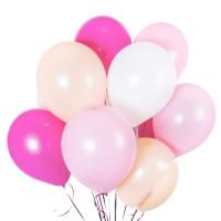 Фуксия+нежно-розовый+белый