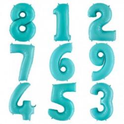 Нежно-голубые цифры