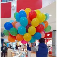 Разноцветные шары 25см с гелием