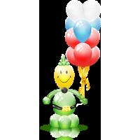 Большой солдат из воздушных шаров