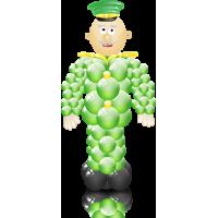 Фигура солдата, военного из шаров