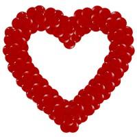 Плетенное сердце из воздушных  шаров