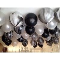 Черно-белые агаты, черные и белые шары