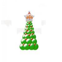 Елка из шаров с Дедом Морозом