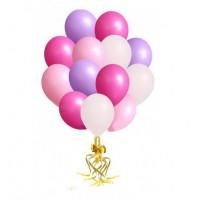 Связка шаров фуксия+розовый+сиреневый