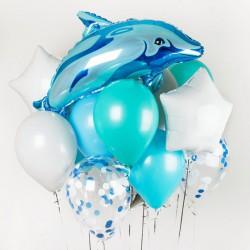 """Гелиевый сет """"Дельфин"""""""