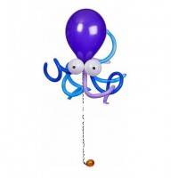 Гелиевая осьминожка из шаров