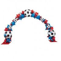 Арка из шаров футбольная