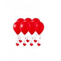 Красные гелиевые шары с сердечками