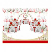 Свадебное оформление в красно-зеленой гамме