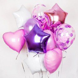 Сет из шаров розовый