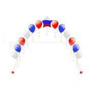 Гелиевая арка триколор