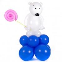Белый мишка с леденцом