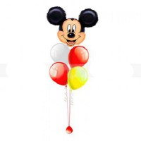 Фонтан из 5 шаров с Микки