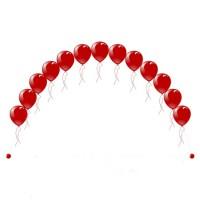 Гелиевая цепочка из воздушных шаров