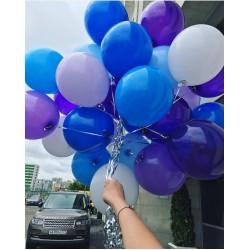 Гелиевое синее-фиолетовое ассорти