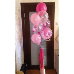 Фонтан из 8 шаров с шарами с перьями