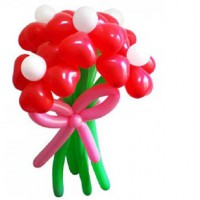 Букет из 5 красных цветов