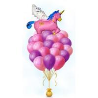 Фонтан из шаров с единорогом