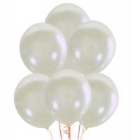 """Белые перламутровые шары 14"""""""