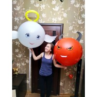 Ангел и демон из шаров