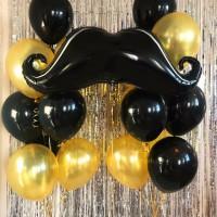 Усы и черно-золотые шары