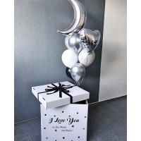 Коробка с шарами с месяцем