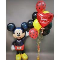 Набор с Микки Маусом и фонтаном из шаров