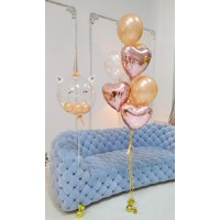 Единорожка и фонтан розовое золото
