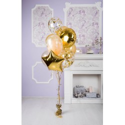 Золотой фонтан из 9 шаров