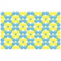 Панно из воздушных шаров-линколунов