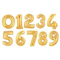 Цифра золотая фольгированная