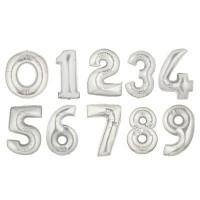 Цифры фольгированные серебряные
