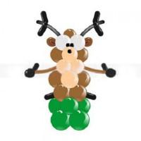 Воздушный олень из шаров