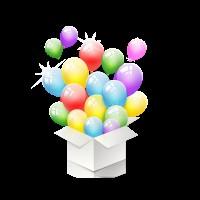 Большая коробка-сюрприз с воздушными шарами