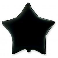Звезда фольгированная черная