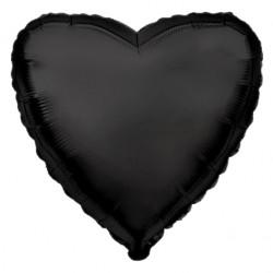 Черное фольгированное сердце