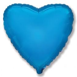 Синее фольгированное сердце